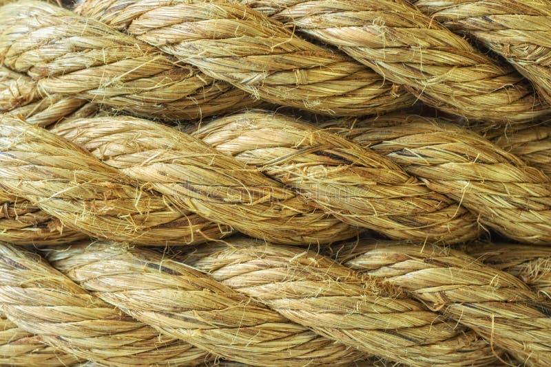 Textura do fundo do sumário da corda do sisal fotografia de stock royalty free
