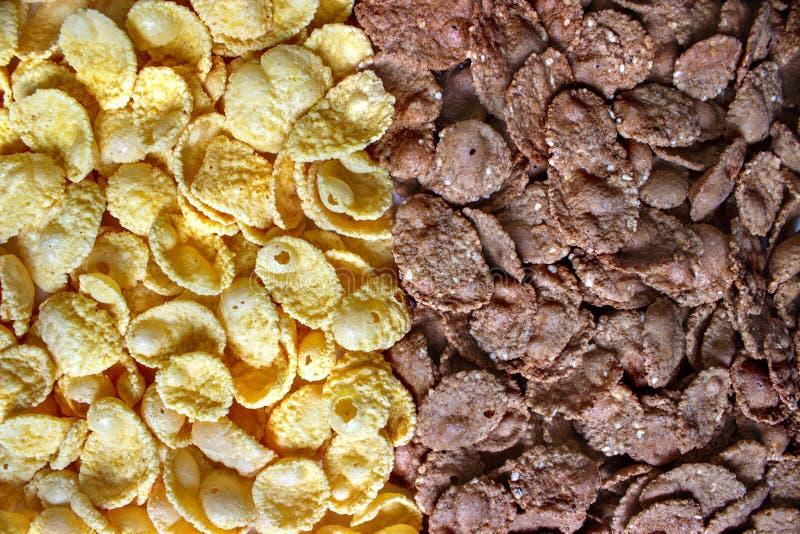 textura do fundo dos Milho-flocos fotos de stock royalty free