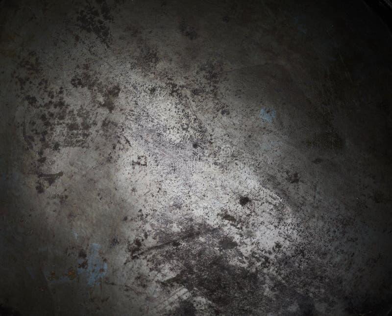 Textura do fundo do metal queimado enegrecido fotografia de stock royalty free