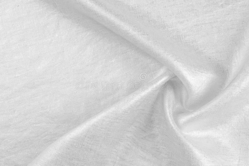 Textura do fundo, teste padrão Platina metálica Lin misturado branco fotos de stock