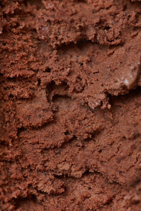 Textura do gelado de chocolate fotos de stock