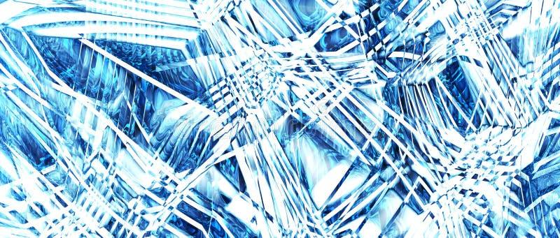 Textura do gelo, abstração Opção 2 rendição 3d imagem de stock