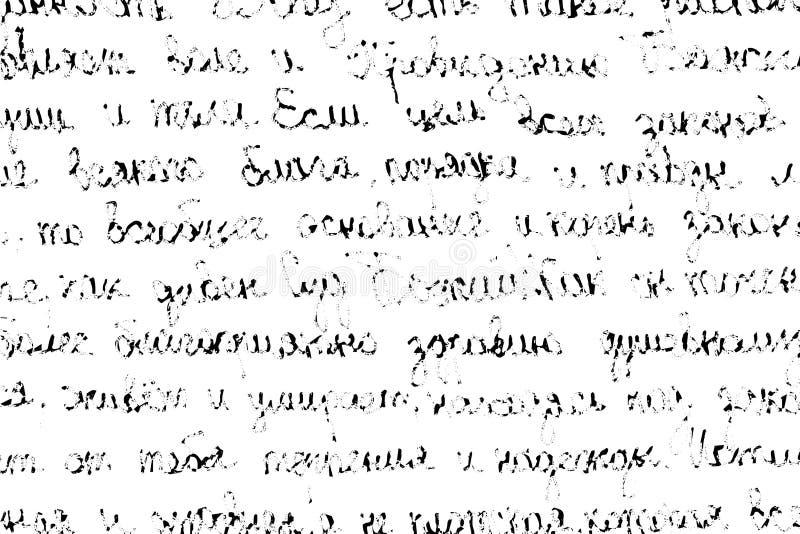 Textura do Grunge da escrita das crianças metade-apagadas ilustração do vetor