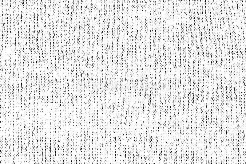 A textura do Grunge da tela feita malha fio de mescla é monocromática ilustração do vetor