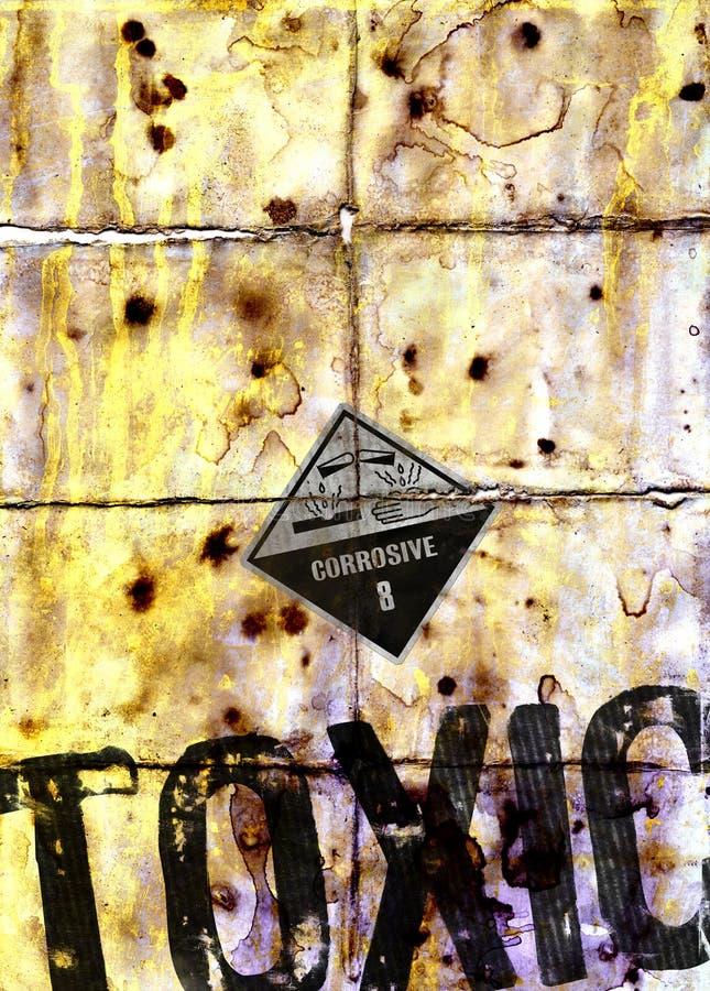 Textura do grunge do desperdício tóxico fotos de stock royalty free