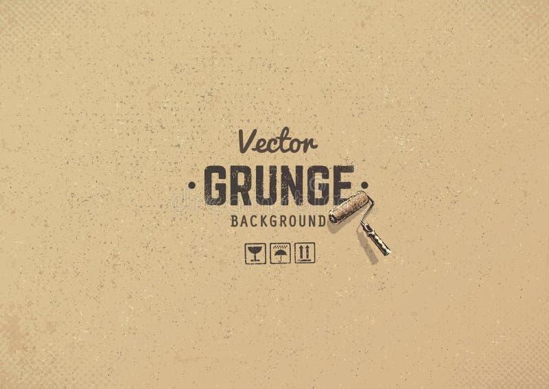 Textura do grunge do vetor ilustração stock