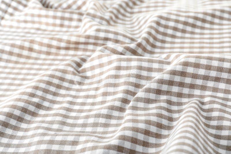 Textura do guardanapo de tabela de matéria têxtil, close up foto de stock