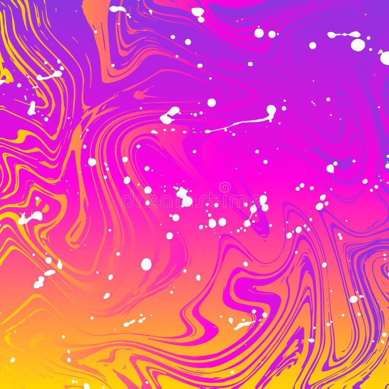 Textura do inclinação da onda com cores brilhantes ilustração stock
