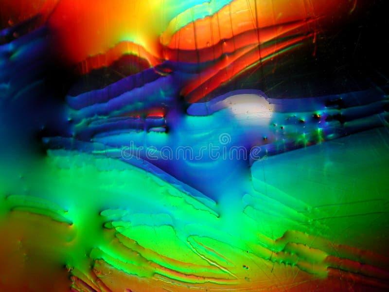 Textura do líquido da pintura de Grunge ilustração do vetor