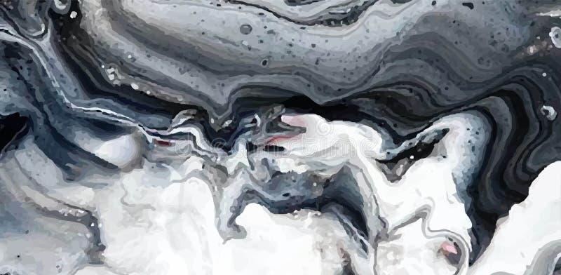 Textura do mármore de Abstact Pode ser usado para o fundo ou o papel de parede ilustração do vetor