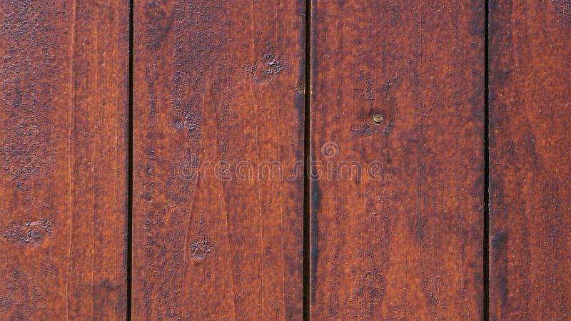 Textura do marrom de madeira feito a mão da cerca fotos de stock