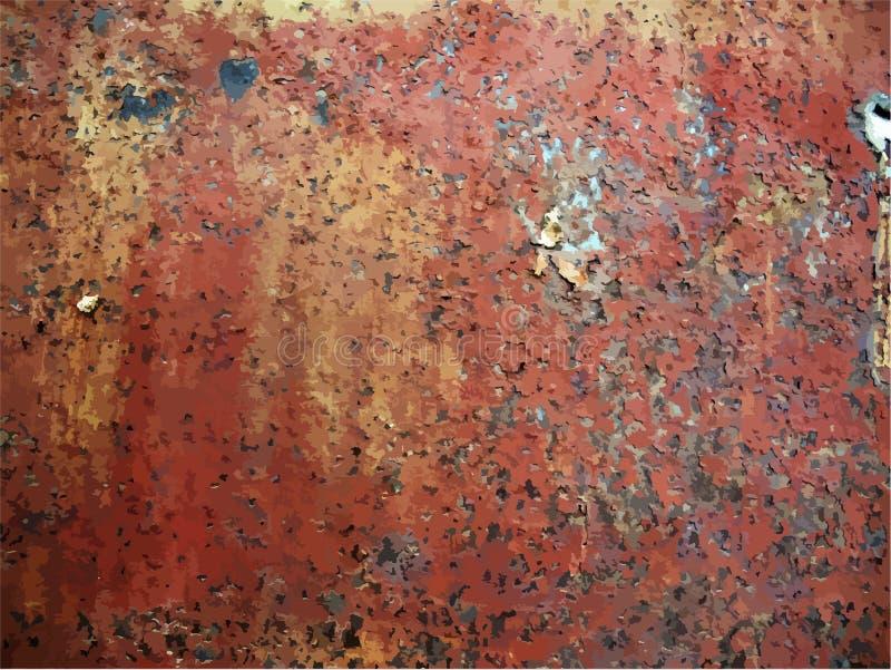Textura do metal oxidado ilustração do vetor