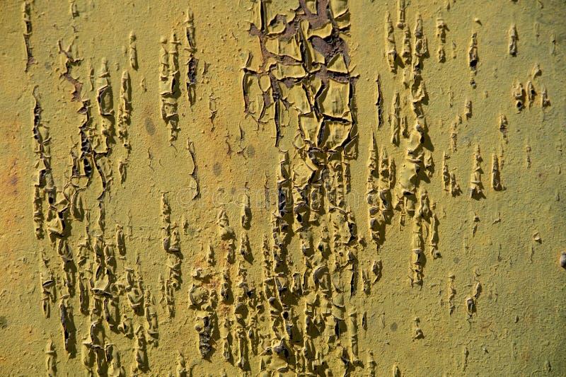 Textura do metal oxidado velho pintado abstraia o fundo Metal velho imagem de stock royalty free