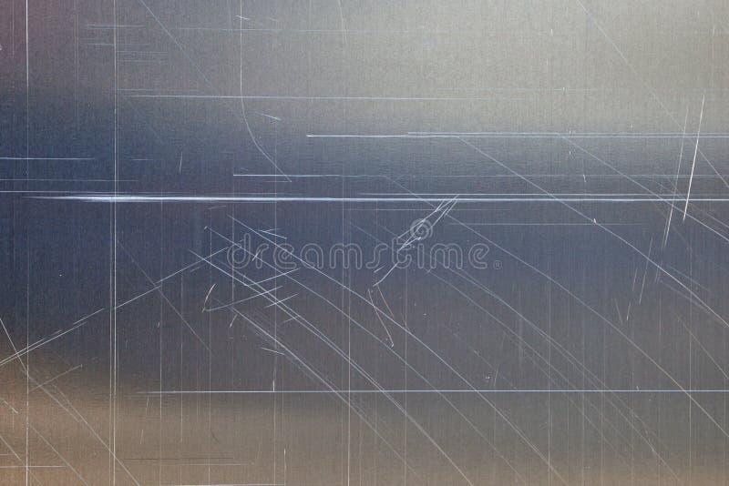 Textura do metal riscado imagens de stock royalty free