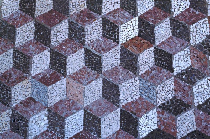 Textura do mozyayki de pedra no estilo 3d fotografia de stock