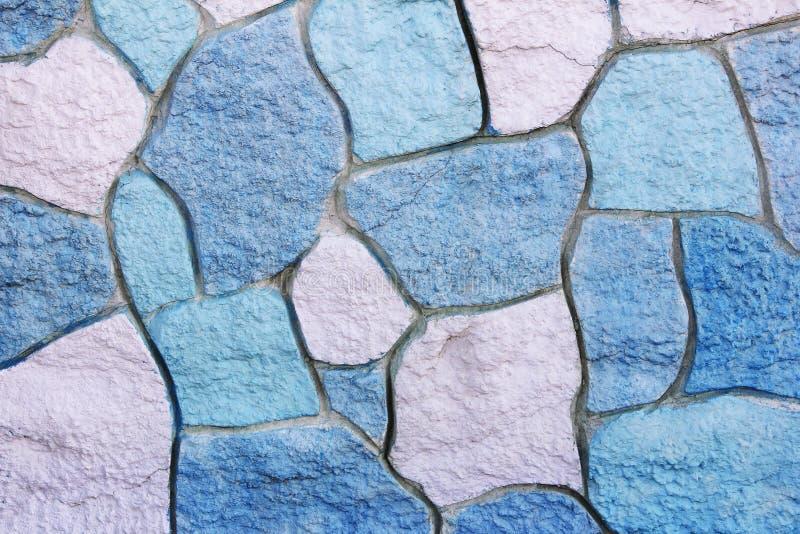 Textura do muro de cimento multi-colorido de pedra com manchas, quebras e testes padrões foto de stock royalty free