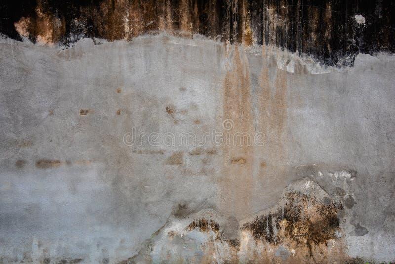 Textura do muro de cimento rachado e resistido velho do grunge do cimento para o fundo e o papel de parede fotos de stock royalty free