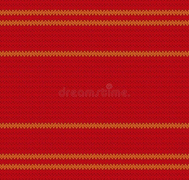 Textura do Natal da camiseta morna feita malha Teste padrão sem emenda feito malha, fundo infinito Ilustração do vetor ilustração stock