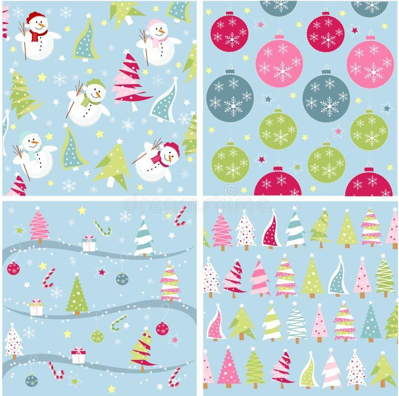 Textura do Natal, testes padrões ilustração royalty free