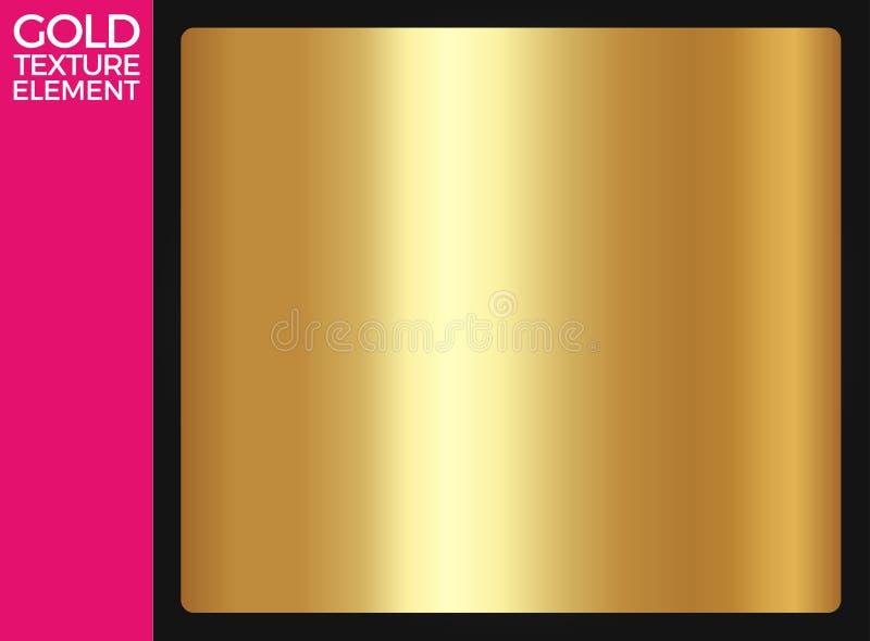 Textura do ouro, molde metálico realístico, dourado claro do inclinação, decoração abstrata do metal, fundo do ouro, vetor do our ilustração royalty free