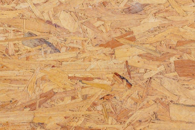 Textura do painel de madeira pressionado OSB orientou a placa da costa fotos de stock
