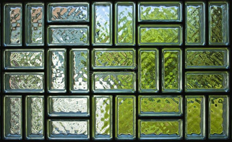 Textura do painel do tijolo de vidro fotos de stock
