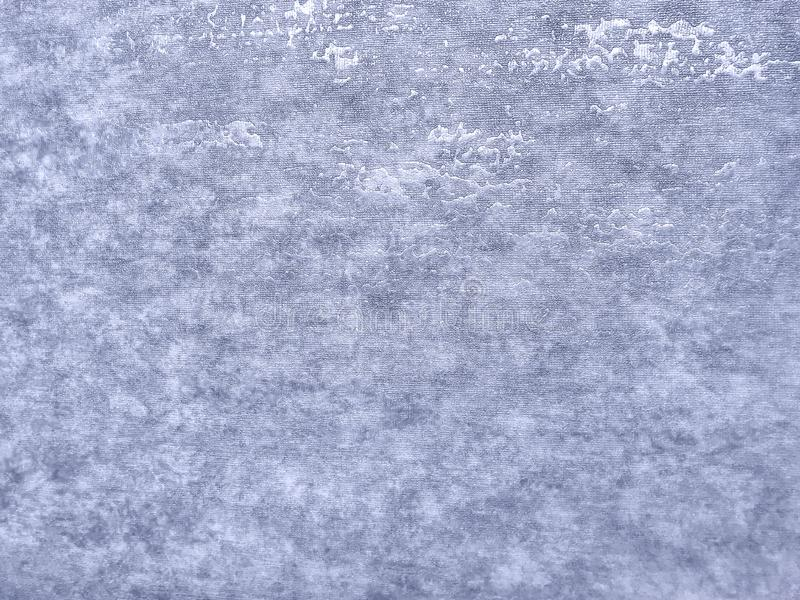 Textura do papel de parede azul com um teste padr?o Superfície de papel de prata, close up da estrutura imagem de stock
