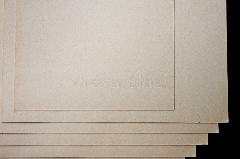 A textura do papel grosseiro, um pacote de cartão fotos de stock