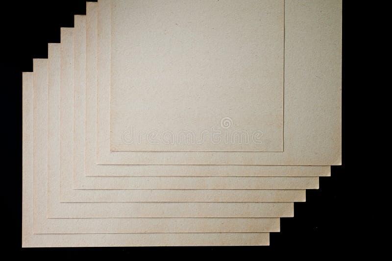 A textura do papel grosseiro, um pacote de cartão fotos de stock royalty free
