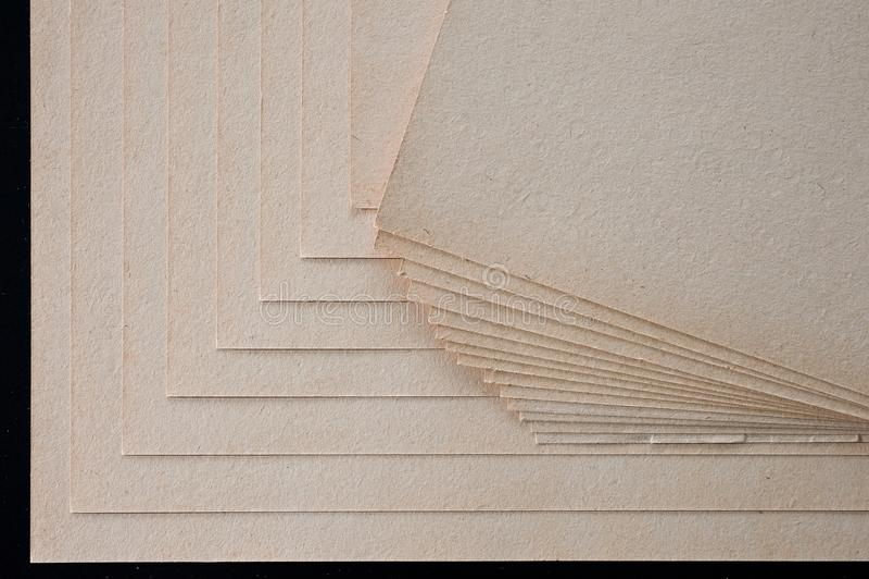 A textura do papel grosseiro, um pacote de cartão fotografia de stock royalty free