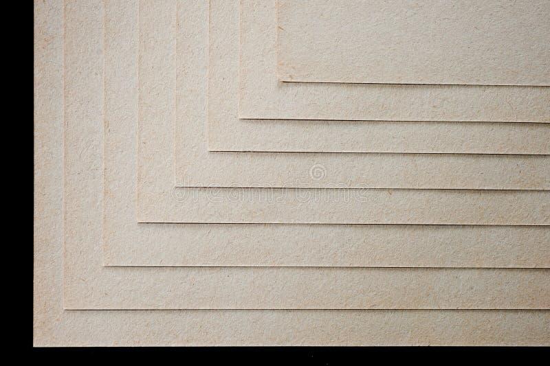 A textura do papel grosseiro, um pacote de cartão foto de stock royalty free