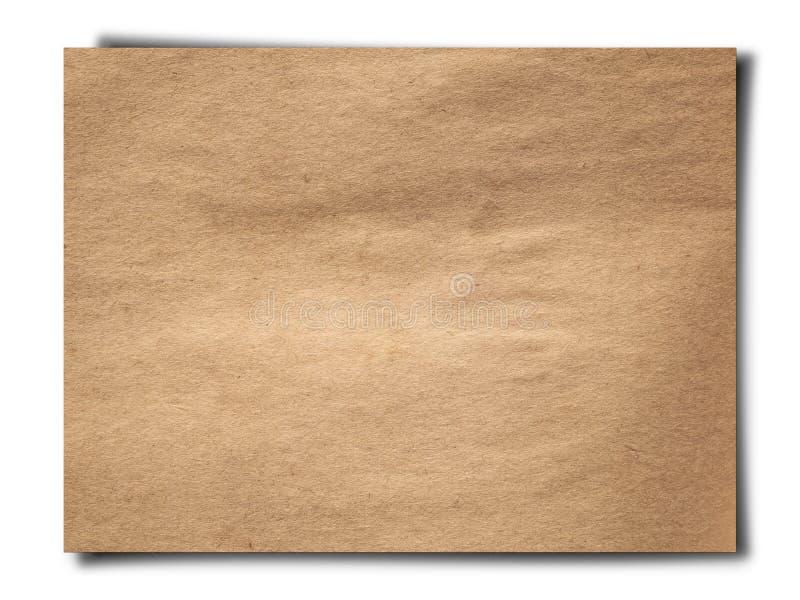 Textura do papel marrom velho imagem de stock royalty free