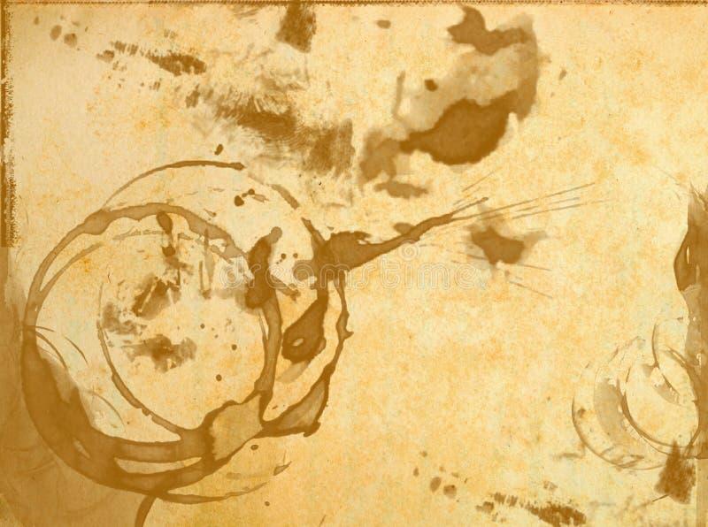 Textura do papel velho com manchado do vidro fotos de stock