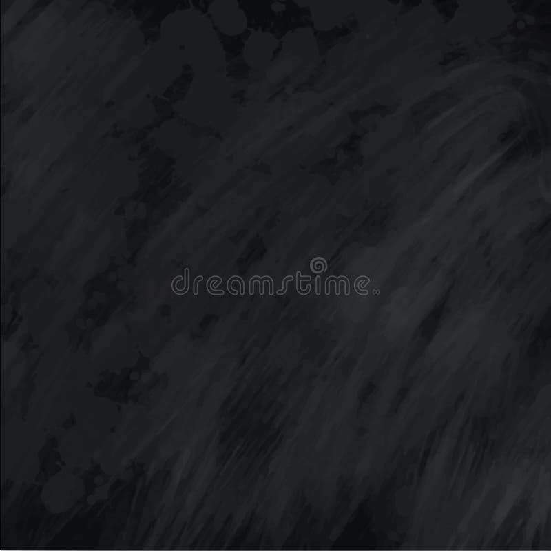 Textura do quadro do quadro-negro O fundo preto vazio vazio do giz com giz segue, ilustração para de volta ao tema da escola ilustração stock