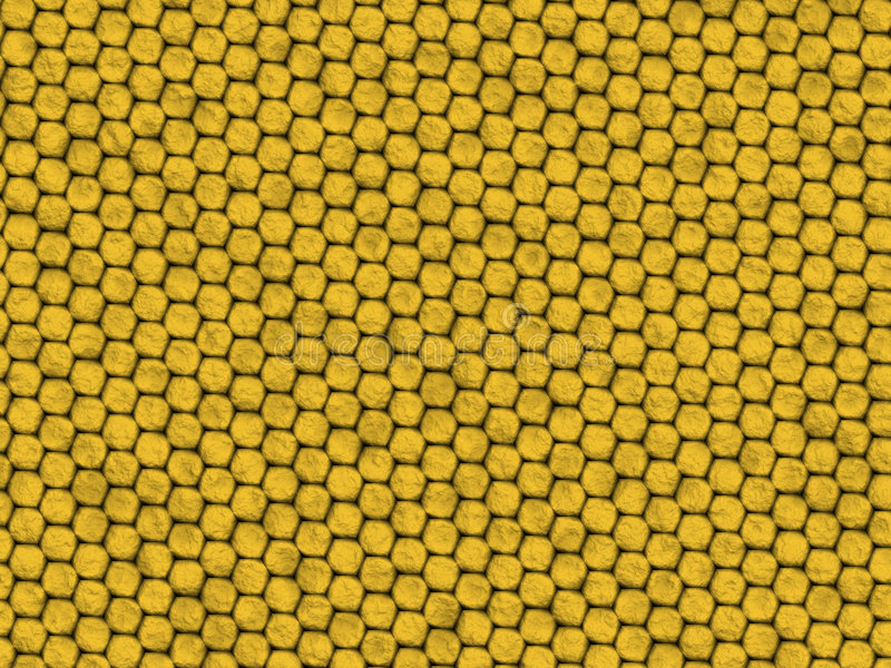Textura do réptil - lagarto amarelo ilustração do vetor