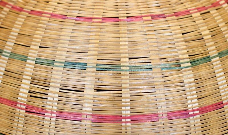 Textura do Rattan para a textura da cesta fotografia de stock