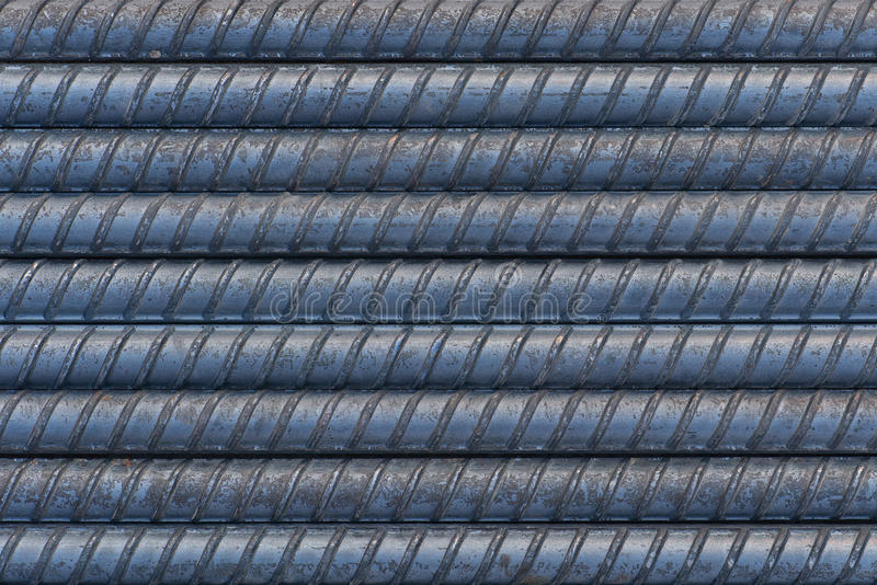 Textura do rebar do close up fotografia de stock royalty free