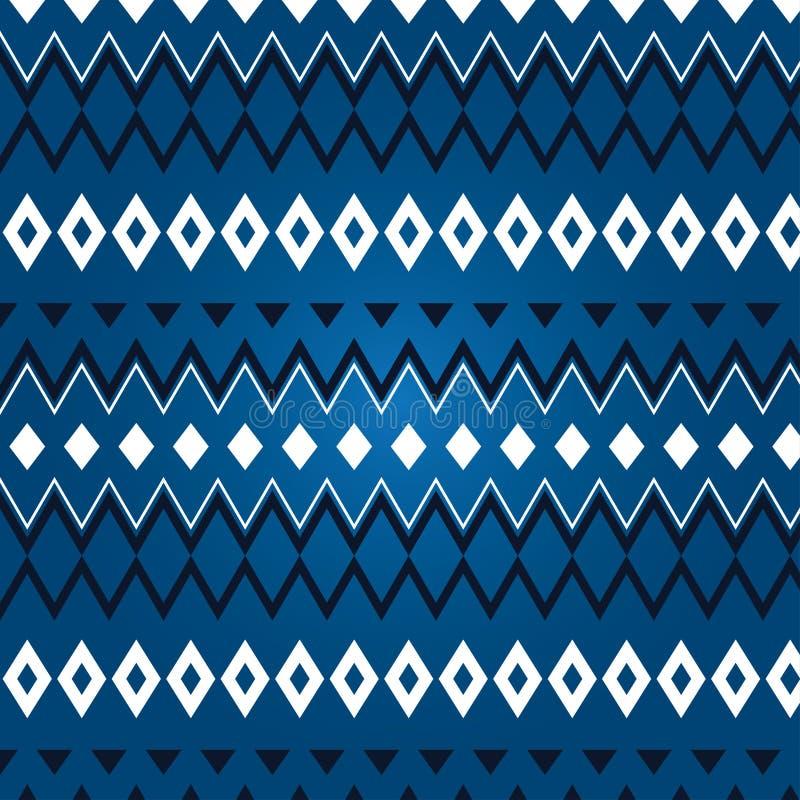 Textura do rhombus diferente em um fundo azul