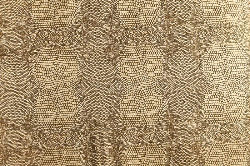 Textura do snakeskin do ouro fotos de stock royalty free