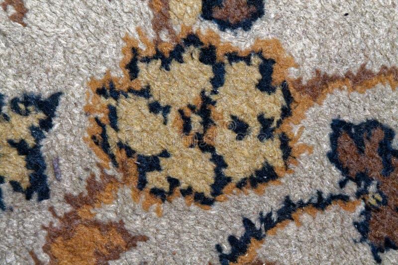 Textura do tapete persa, ornamento macro abstrato Fundo tradicional do Oriente Médio da tela do tapete imagens de stock royalty free