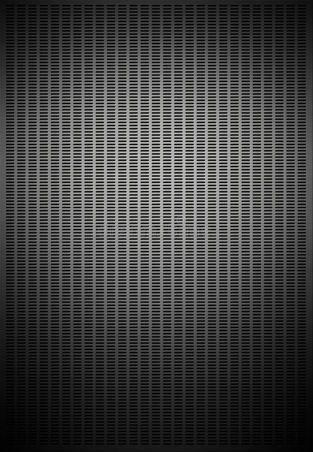 Textura do teste padrão do engranzamento do metal ilustração do vetor