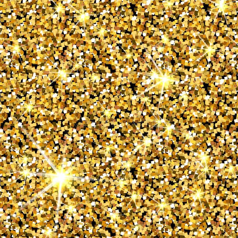 Textura do vetor do brilho do ouro Fundo dourado da faísca ilustração do vetor