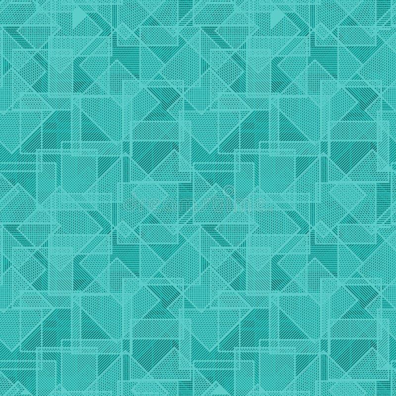 Textura do vetor - quadrados aleatòria repetidos ilustração stock
