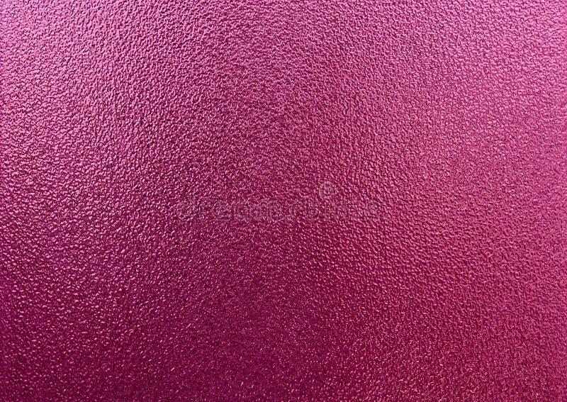 Textura do vidro geado do rosa como o fundo fotografia de stock
