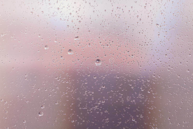 Textura do vidro molhado com gotas da água fotos de stock