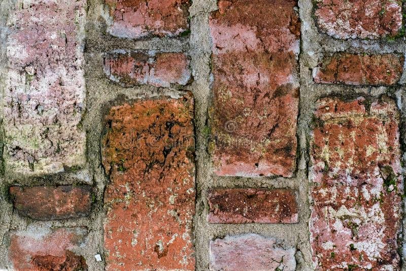 Textura do vintage da alvenaria velha na vista próxima fotos de stock royalty free