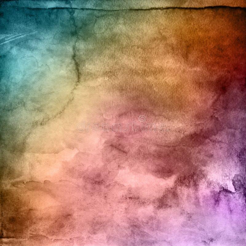 Textura do watercolour do Grunge ilustração stock