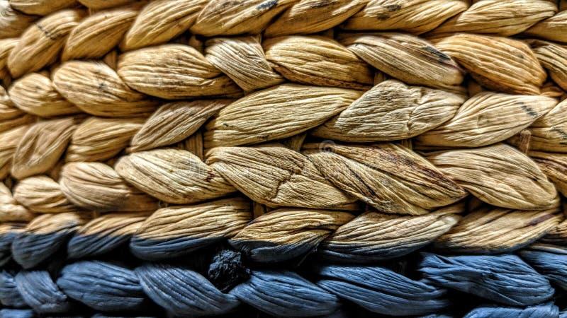 Textura do weave de cesta de vime imagens de stock