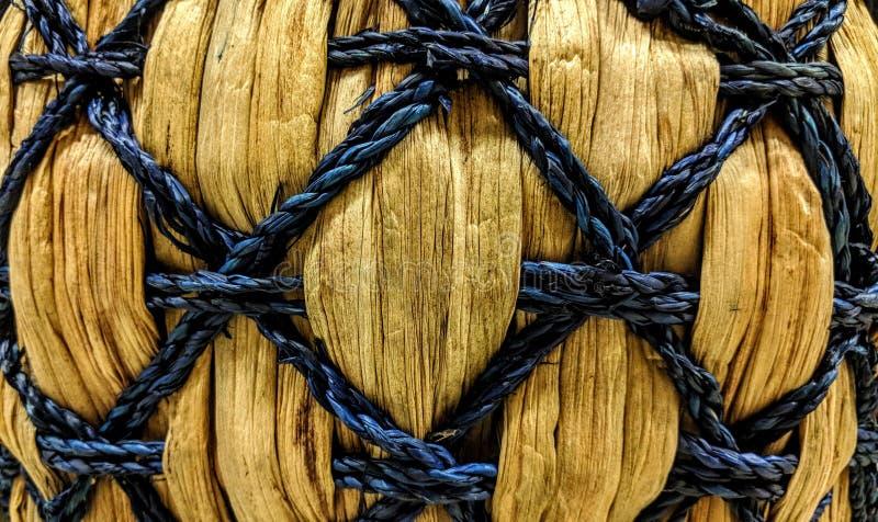 Textura do weave de cesta de vime fotografia de stock