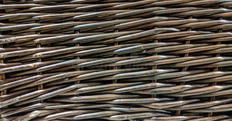 Textura do weave de cesta de vime imagem de stock